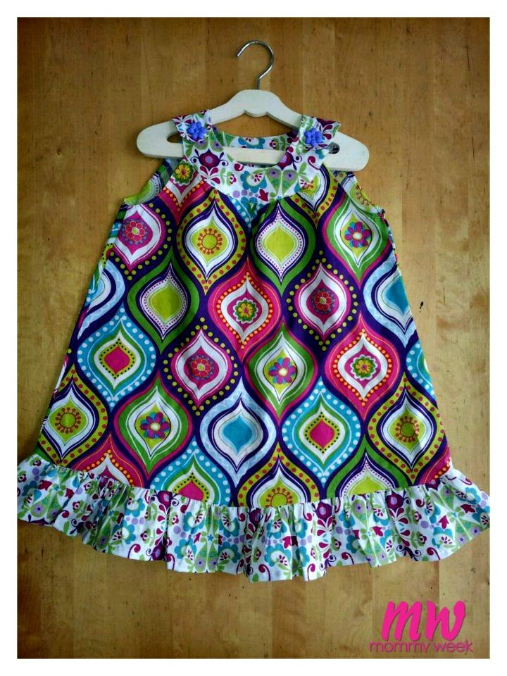 Easy DIY Summer Maxi Dress Tutorial - Mommy Week™